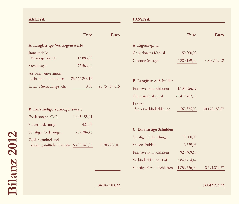 Bilanz Deutsche Grundbesitz AG 2012