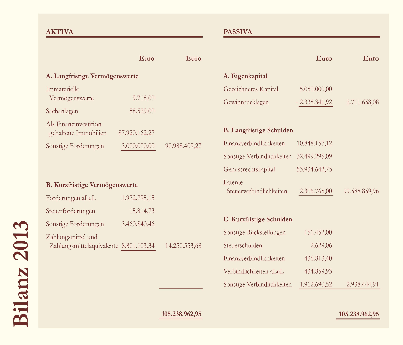 Bilanz Deutsche Grundbesitz AG 2013