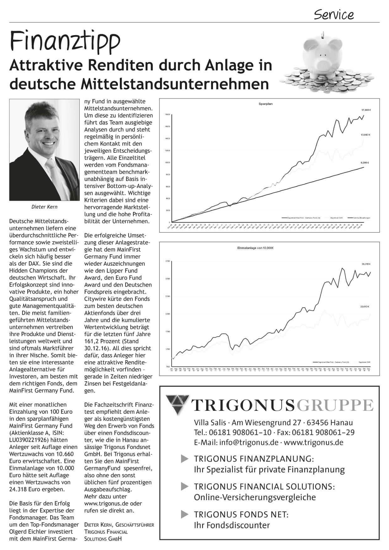 anzeige Februar 2017 Deutsche Aktien